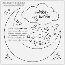 twinkle twinkle star coloring print