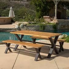 Outdoor Bench Furniture by Teak Patio Furniture You U0027ll Love Wayfair