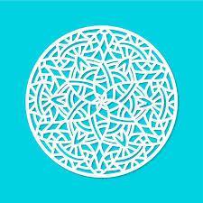 laser cut vector mandala ornament cutout pattern silhouette with
