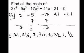 example of solving a polynomial equation 6 5