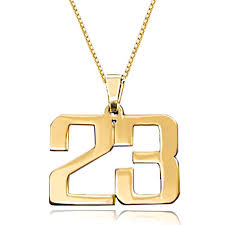 custom gold necklace custom necklace 18 k gold plated 925 sterling sliver number for