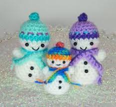 snowman family trio crochet and crafts