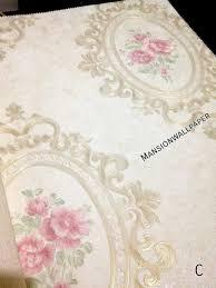 wallpaper bunga lingkaran jual wallpaper dinding bunga lingkaran klasik mewah di lapak custom