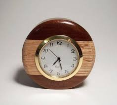 Small Desk Clock Wooden Desk Clock Small Unique Gift Idea Business Wood