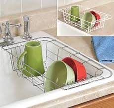 dish drainer for small side of sink frigidaire 5304464116 glass tray microwave dish drainers sinks