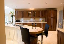 Kitchen Island With Breakfast Bar Designs Kitchen Nice Brown Seamless Granite Countertops Varnished Wooden