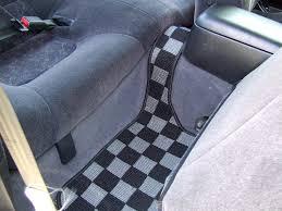 nissan frontier floor mats fs d max s14 checkered floor mats dark gray black full se