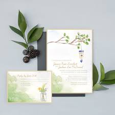 Backyard Wedding Invitations Invitations Sets Archives Hand Painted Weddings