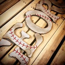 Nursery Wall Decor Letters Wood Letter Wall Decor Inspirational Baseball Wall Letters