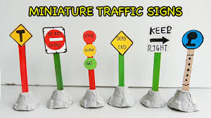 how to make cute miniature traffic sign for kids popsicle stick
