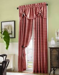 plaid curtains for living room with american country concept
