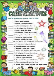 comparatives and superlatives esl printable worksheets