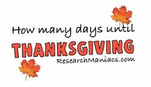 how many day until thanksgiving decore