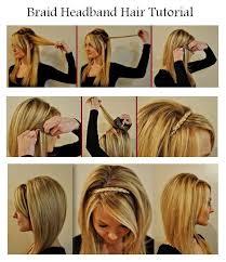 how to braid short hair step by step hair and fashion make a braid headband for your hair