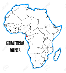 Blank African Map by Equatorial Guinea Outline Inset Into A Map Of Africa Over A White