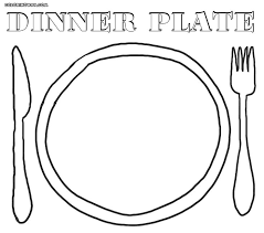 Empty Plate Coloring Sheet Murderthestout Plate Coloring Page