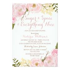sugar and spice and everything baby shower sugar and spice invitations announcements zazzle