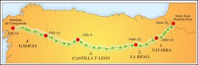 Camino Frances Map by Camino Church Of The Nativity