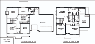 Second Story Floor Plans by Cool Design 9 2 Story House Plans With Master On Second Floor Two