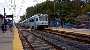 light rail baltimore md mta maryland light rail hamburg bound 3 car abb lrv train