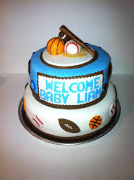 baby shower cakes for boys sports barberryfieldcom