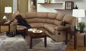 Microfiber Reclining Sofa Sets Camel Microfiber Reclining Sectional Sofa W Throw Pillows
