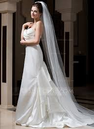 wedding veils for sale one tier cathedral bridal veils with cut edge 006034101