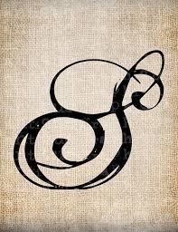 monogram letter s antique letter s script monogram digital by antiquegraphique