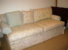 Plaid Chair And Ottoman by Drop Cloth Couch Chair And Ottoman With French Welt Slipcovers