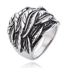 men vintage rings images Niello punk men 39 s vintage titanium gothic wings ring zivpin jpg