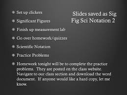 set up clickers significant figures finish up measurement lab go