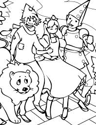 Dorothy And Friends Hangout In The Wizard Of Oz Coloring Page Wizard Of Oz Coloring Pages