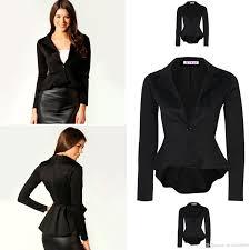 2017 brand blazer women slim black office suit jacket la s