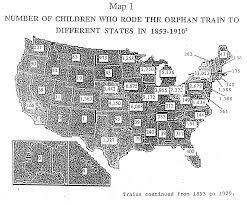Map Of Chicago With Train Lines by Map Of United States Showing Number Of Orphan Train Riders In 1853