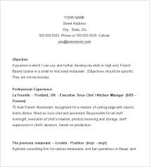 Chef Resume Samples Cook Resume Examples Chef Resume Examples Chef Resume Template