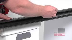 windsor garage door bottom seal uni 100 universal bottom seal youtube