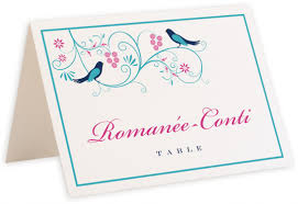 Table Name Cards by Leah And Luna Contemporary Birds Wedding Table Name Cards Table