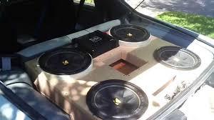 camaro speaker box 4 12 kicker comp subwoofers in 1989 chevy camaro
