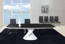 Black Glass Dining Room Sets Astounding Extending Black Glass Dining Table And 6 Chairs Set 19