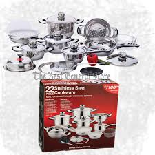 kitchen the best general store great items at a great price 22pc 7 ply high quality heavy duty stainless steel cookware set