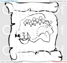 royalty free rf clipart illustration of an outlined ship near an