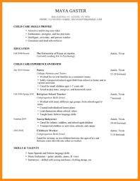 Child Care Worker Sample Resume 9 Sample Resume Of Nanny Position Azzurra Castle Grenada