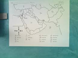 Southwest Asia Map by Thomas County Middle