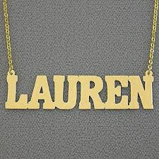Gold Nameplate Necklaces Amazon Com 2 Inch Large Name Necklace 10k Gold Personalized Bold