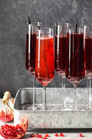 red cocktails pomegranate vanilla sparkling wine cocktails foxes love lemons
