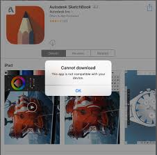 sketchbook ios this app is not compatible with your device up
