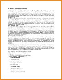 Sample Of Short Resume by 8 Example Of Short Autobiography Parts Of Resume