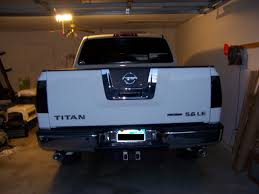 white nissan 2004 white t w tinted tail light nissan titan forum