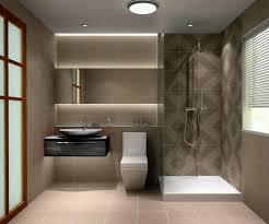 Simple Bathroom Bathroom Corner Shower And Modern Toilet With Floating Vanity For