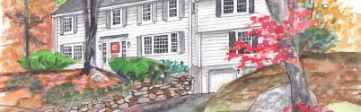 house portraits by deb watercolors of homes and buildings